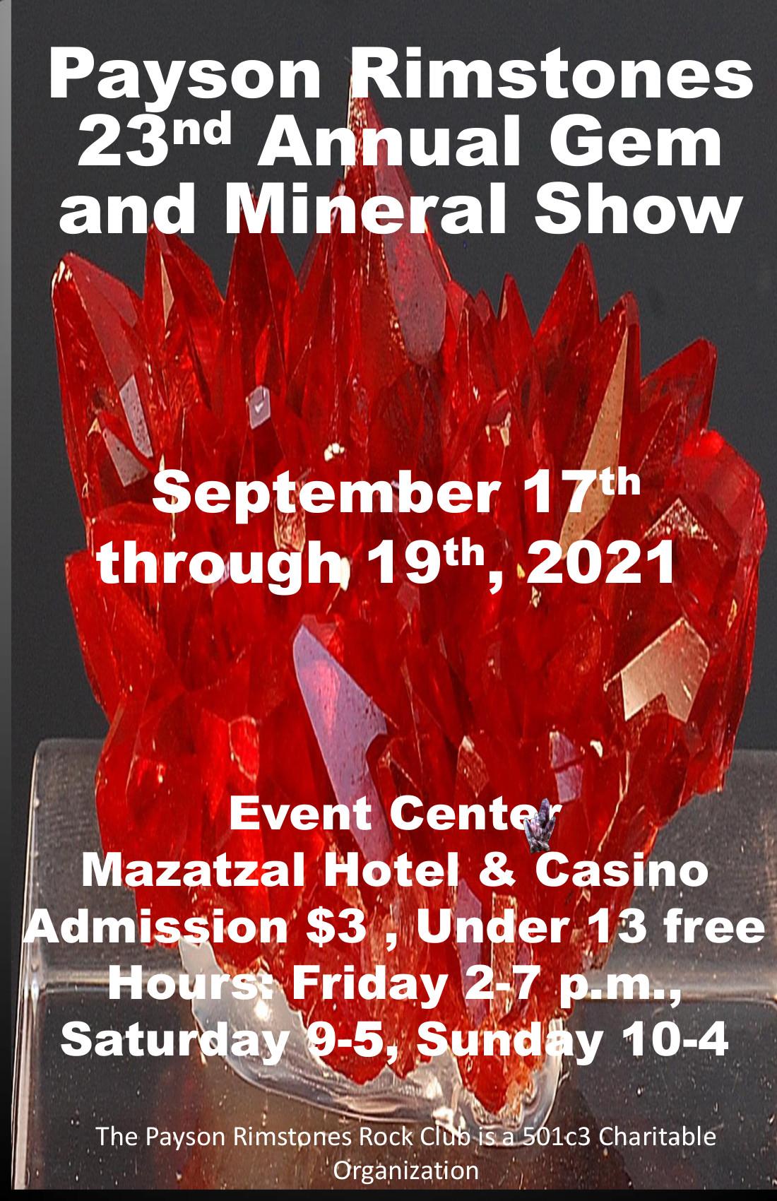 Payson Rimstones 23rd Annual Gem & Mineral Show